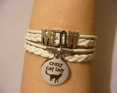 Cat bracelet, cat jewelry, crazy cat lady bracelet, crazy cat lady jewelry, meow bracelet, meow jewelry, fashion bracelet, fashion jewelry
