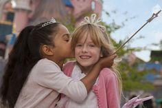 Disneyland Park, Fantasyland - Girls In Front Of Sleeping Beauty Castle, Disneyland Paris
