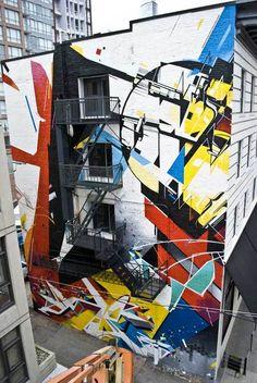 L'art Pour L'art: Street Art Giving Vancouver a Sense of Identity at Schema : more than ethnic Street Mural, Street Art Graffiti, Downtown Vancouver, Joker Art, Graffiti Wall, Mural Wall, Expositions, Chalk Art, Public Art