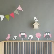 nursury ideas - owls and flags