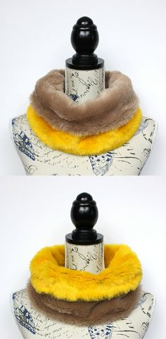 Furry Neckwarmer - Unique Fur Scarf - Festival Fur Hood - Winter Fur Collar - Women Fur Cowl - Chunky Fur Snood - Christmas Gift for Aunt