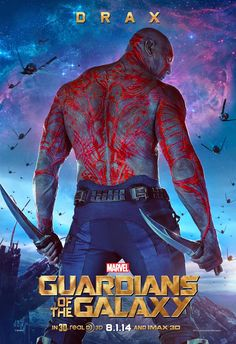 Marvel's Guardians of The Galaxy Character Poster: Drax!