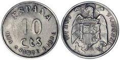 moneda de 10 céntimos de peseta