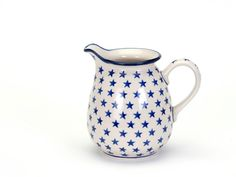 Country Traditionals :: Jug with Lip (1 Litre) in the Morning Star pattern Polish Pottery