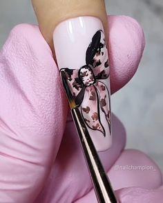 By @nailchampion Chic Nails, Glam Nails, 3d Nails, Love Nails, Acrylic Nails, Nail Art Designs Videos, Nail Art Videos, Nail Designs, Glitter Nail Art