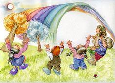 Rainbow by Nuran Balcı Özekçin, via Behance