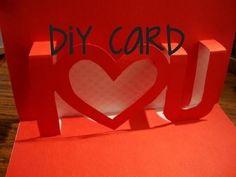 Tarjeta I ♥ U 3D