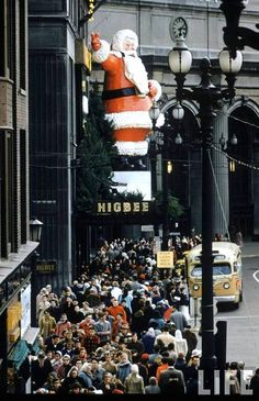 Christmas Shopping in the 1950s Public Square. Downtown....Cleveland, Ohio