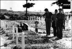 The Namdinh Military cemetery. May 21st, 1954//Robert Capa