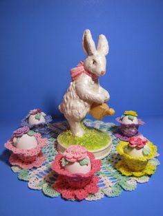 BellaCrochet: Easter Garden Doily: A Free Crochet Pattern For You Holiday Crochet, Crochet Gifts, Free Crochet, Irish Crochet, Thread Crochet, Crochet Doilies, Easter Crochet Patterns, Crochet Ideas, Crochet Projects