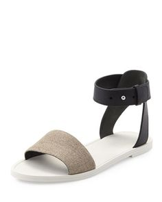 Sawyer+Ankle-Wrap+Flat+Sandal,+Natural/Black+at+CUSP.