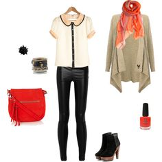 Red touch, created by karina-villagra on Polyvore