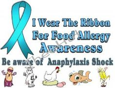 what color is the allergy awareness ribbon | shirt, FOOD ALLERGY, ANAPHYLAXIS Awareness, I Wear The Ribbon ...