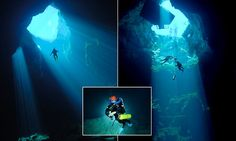 Out of the abyss: Spectacular images of divers exploring massive water-filled cavern hidden beneath a nondescript PADDOCK   Read more: http://www.dailymail.co.uk/news/article-3131518/Divers-navigate-elusive-cave-hidden-beneath-paddock.html#ixzz3ddMdFQ1Z  Follow us: @MailOnline on Twitter   DailyMail on Facebook