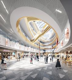 Mall Design, 3d Rendering, Shopping Mall, Night Club, Gate, Clouds, Retail, Travel, Shopping Center