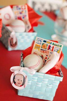 Season Opener: Baseball Party Ideas. Gift bag ideas