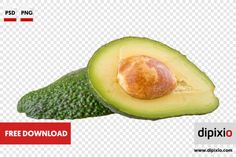 Free photo of cut avocado for download on www.dipixio.com