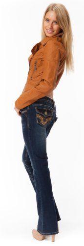 WallFlower Juniors Vintage Collection Legendary Bootcut Jeans with Flap Back Pocket - cheune.com/...