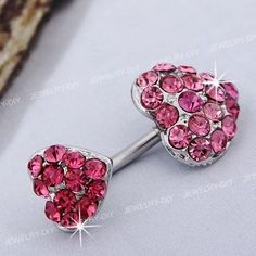 Stainless Steel Heart Belly Navel Belly Bar Ring Pink Hot   eBay