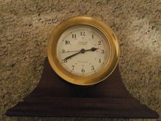 $100.0 WEEMS & PLATH Quartz Marine Nautical Ships Bell Clock Excellent Condition #nauticalroom #nauticaldecor Nautical Room Decor, Ships, Quartz, Clock, Home Decor, Watch, Boats, Decoration Home, Room Decor