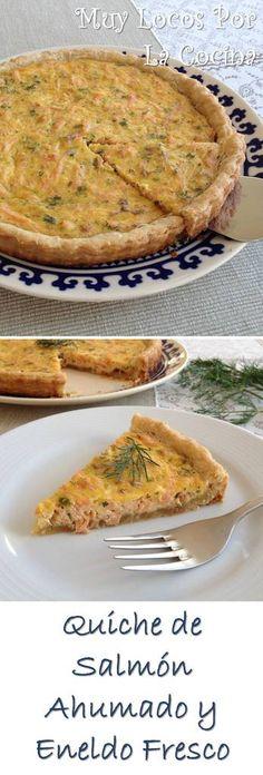 Quiche de Salmón Ahumado y Eneldo Fresco: Una tarta salada deliciosa. Puedes encontrarla en www.muylocosporlacocina.com