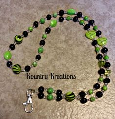 Beaded Lanyard ID Badge Holder and by KountryKreations2008 on Etsy, $25.95