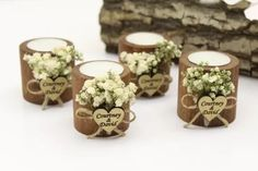 Emmaline Bride - Handmade Wedding Blog Are you looking for wedding favors for guests in bulk? More specifically, would you like to give rustic candles as take-home favors for your guests? You've come to the right… Handmade Wedding Blog