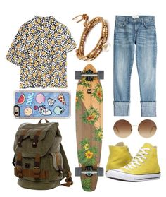 """""""Casual spring"""" by sofiapetronella on Polyvore featuring Marni, Current/Elliott, Converse, Victoria Beckham, Zero Gravity, BYRON and Chan Luu"""
