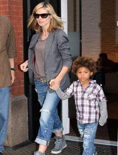 Spotted: Heidi Klum's son Henry Samuel in Plaid.    Plaid is a must have in every little boy's wardrobe! Paired with jeans (like Henry) or shorts and you've got the perfect outfit!    FOX fans head on down and get your kids a plaid shirt today!