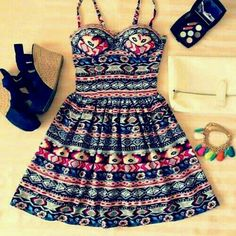 vestido tribal