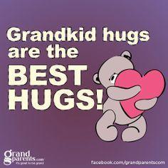 Grandkid hugs are the best hugs Grandmother Quotes, Grandma And Grandpa, Call Grandma, Quotes About Grandchildren, Grandkids Quotes, Grandmothers Love, Best Hug, Love You, My Love