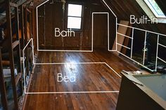 These TOH readers turned their cottage attic into a deluxe master suite with bathroom, walk-in closet and plentiful built-ins. Master Bedroom Bathroom, Upstairs Bedroom, Attic Bathroom, Attic Bedrooms, Bedroom Loft, Attic Renovation, Attic Remodel, Attic Closet, Attic Conversion