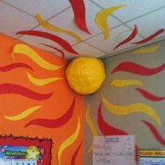 I Space Theme Classroom, Classroom Design, Classroom Displays, Classroom Ideas, Classroom Pictures, Classroom Borders, Classroom Walls, Year 4 Classroom, Preschool Classroom Themes
