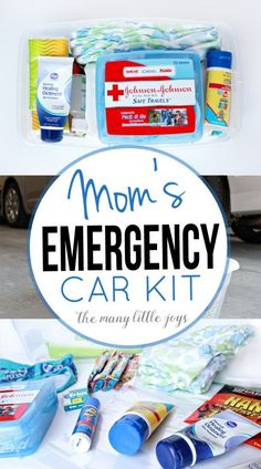 Moms have to be prepared for anything, right? This easy-to-make emergency car kit will give you peace of mind while you're out adventuring with your kids.