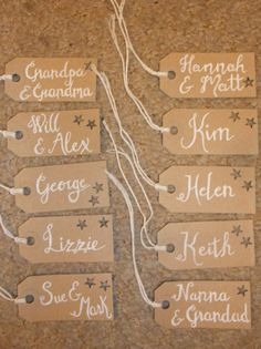 Calligraphy lables for presents