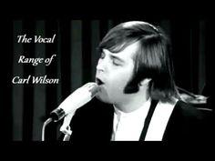 The vocal range of Carl WIlson