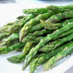 "Simply Steamed Asparagus | ""Makes even tough asparagus, tender and tasty! Try using vinaigrette dressing in place of the butter too."""