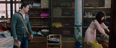 Industrial book shelves from The Vow