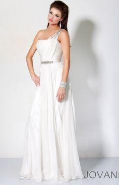 Jovani Greek Goddess One Shoulder Prom Gown 7825