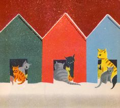 my vintage book collection (in blog form).: The Cats Who Stayed for Dinner - illustrated by Peter Burchard