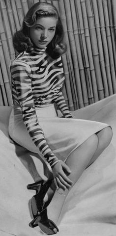 Lauren Bacall March 1943. Hollywood classic Stars.  Vintage style.