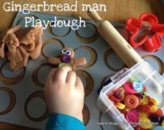 Inspire imagination through creation: gingerbread man playdough