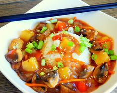 Klunker's Plant-Based Kitchen: Sweet and Sour mushrooms