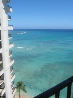 View from the Lanai  at Outrigger Waikiki (Outrigger Waikiki on the Beach, Honolulu, Oahu)
