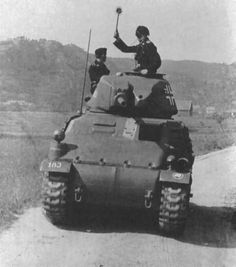 A captured French light tank used by the Germans in 1940