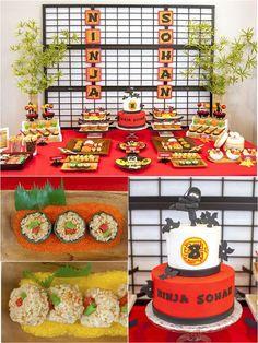 Une fête d'anniversaire japonaise 'Origami Dojo' Ninja - BirdsParty.fr