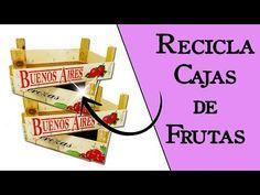 ¿Qué hacer con Cajas de Frutas o Huacales? || Manualidades Recicladas || Ecobrisa - YouTube Ideas Para, Diy Ideas, Diy And Crafts, Decorative Boxes, Projects To Try, Crafty, Youtube, Ideas Creativas, Sarah Kay