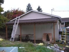 Building a barn leanto part 6 farm blog chicken for Lean to addition to garage