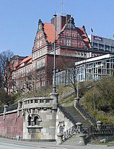 Seewetteramt des Deutschen Wetterdienstes, Hamburg, Gebäude der ehem. Navigationsschule
