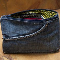 Trousse en jean recycle & wax